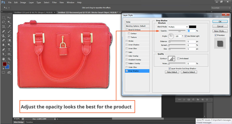 Why need drop shadow service for photographer
