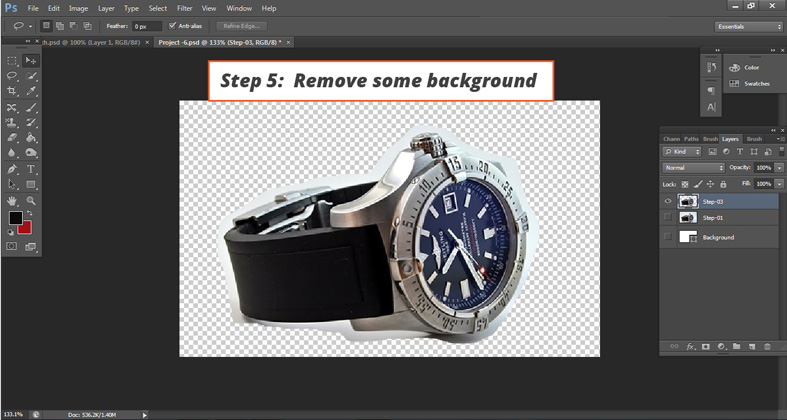 How to deselect objects in Photoshop